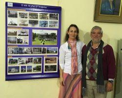 Mariela Corti junto al Prof. Hugo Lanas, del equipo Directivo del Profesorado.